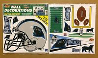 Carolina Panthers NFL Football self-stick WALL DECORATIONS by Color Clings