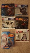 LOT 5 STAR WARS LEGO MINI FIGURES AND 1 HOT WHEEL R2-KT