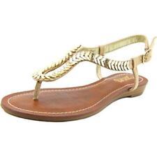 Calzado de mujer sandalias con tiras de color principal beige talla 36