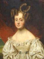 Fine 19th Century Portrait of a Girl Elizabeth Jamieson Antique Oil Painting