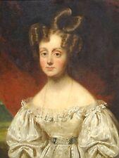 Fine 19th Century retrato de una pintura al óleo antigua niña Elizabeth de Jamieson