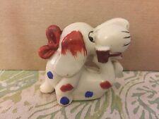 """Vintage China Porcelain Spotted Dog Figurine Made Japan 3"""""""