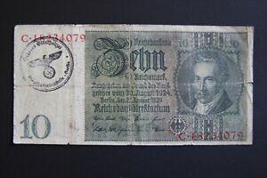 Germany occupation banknote WW2/WWII