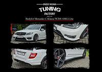 Bodykit Spoiler Heckdiffusor Schweller ABS für Mercedes C-Klasse W204 AMG-Line