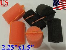 12 Pcs JUMBO SOFT Foam Hair Rollers culer Professional Sponge Salon Use NEW