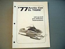 1977 Vintage Arctic Cat El Tigre Dealer Setup Manual