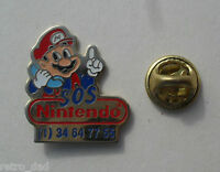 Super Mario SOS Nintendo RARE Old Promo Enamel Metal PIN BADGE Pins NES Club