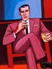 DON DRAPER PRINT poster mad men jon hamm liquor booze cigarette smoke executive