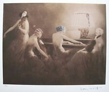 """Louis Icart """"MELODY HOUR"""" Signed Limited Edition Art Giclee"""