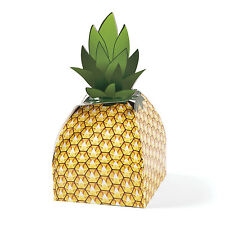 12 Pineapple Favor Boxes TROPICAL  Luau Beach POOL Party LOOT BAGS