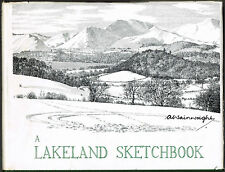 A Lakeland Sketchbook - A Wainwright. Priced £1.80 on dust jacket.