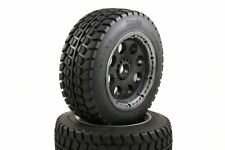 Buster Truck Wheels Black Buster Rims Front Pair 190x60 Fits HPI Baja KM 1/5