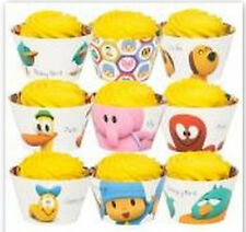 Pocoyo Party Supplies Cupcake Wrappers Birthday Decoration x12 Elephant Favors *