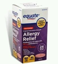 Equate Allergy Relief, 30 tablets, Compare to Allegra, Missing Boxes Exp 01/17+