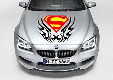 TRIBAL SUPERMAN LOGO DECAL VINYL GRAPHIC HOOD SIDE CAR TRUCK