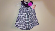 OMG The Cutest One Piece Black & White w/ Flower Dress by Baby Essentials -12 MO