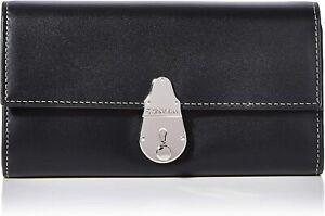Genuine New Calvin Klein Women's Locked Trifold Bag  / Large Purse Black / Red