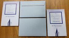 40 BASILDON BOND DUKE BLUE WATERMARKED PEEL & SEAL ENVELOPES 95x143mm CARD RSVP