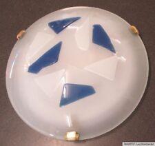 Design Deckenlampe Wandlampe rund näve Glas Weiß Mosaik Steine Blau Abstrakt E27