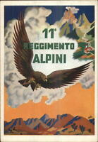 Italy 11th Regimento Alpini Soaring Eagle Art Deco POSTER ART Postcard G19