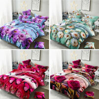 HOME SOFT 3D PRINTING BEDDING COMFY QUILT DUVET COVER SET BED SHEET PILLOWCASE