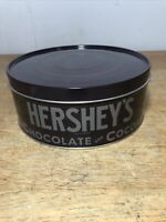 "Hershey's Chocolate and Cocoa Round Tin 8 1/4"" Across"