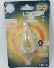 GE Lighting 3 Watt E12 CAC Warm Candle Light Vintage LED Dimmable Light - NEW