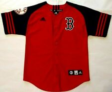 Boston Red Sox Youth Medium (10-12) #15 Pedroia Button Down Screen Print Jersey