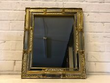 Vintage Wall Hanging Mirror with Silver and Gold Painted Wooden Frame