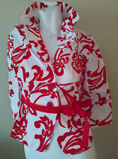 50% off Kenzie Women's Red Floral Print Jacket Size 4