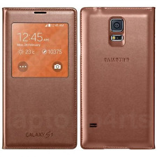 Genuine Samsung Flip finestra S View Wallet Case Cover per Galaxy S5 Rose Gold