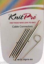 Knitpro Intercambiables Aguja Cable Conectores Juego De 3 Conectores Con Clave