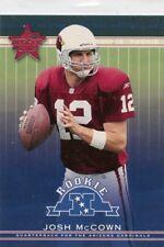 Josh McCown 2002 Leaf Rookies and Stars Rookie Card RC #199