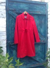 women's coat size 12/14 red cotton Princess Style designer A Wear empire Line Vg