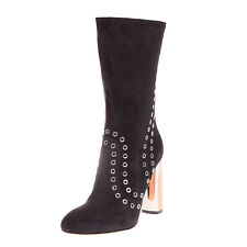 RRP €1085 ALEXANDER MCQUEEN Leather Mid-Calf Boots EU 38 UK 5 US 8 Made in Italy