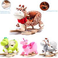 Kinder Baby Schaukelpferd Pferd Schaukeltier Schaukel Spielzeug Plüsch Wippe DE