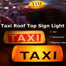 Taxi Cab Sign Roof Top Topper Car Magnetic Sign Lamp Light ABS Waterproof 12V DC