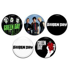 5x Green Day Band Alternative Punk Grunge 25mm / 1 Inch D Pin Button Badges