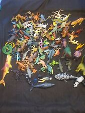 Huge Dinosaur Toy Figure Lot - Over 100 Figures! Animals snakes sharks