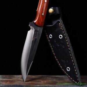 Hunting Knife HUSA Camping Dagger Sword Stainless Steel Thokcha Mixed Sharp#2680
