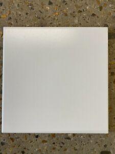 "20 x 20cm (7'87""x7'87"") Ceramic plain flat matt white wall tile SAMPLE / LOOSE"