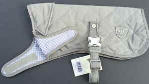 Sydney & Co  Stone Quilted Dog Jacket Various Sizes BNWT