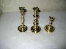 3 Baldwin Brass Candlesticks