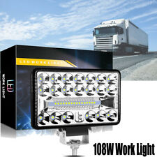 9V-30V 108W Work Light Flood Spot Beam Offroad Boat SUV Driving Fog Lamp IP67