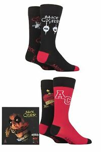 Alice Cooper 4 Pair Exclusive to SOCKSHOP Gift Boxed Cotton Socks