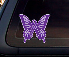 Lupus Awareness Butterfly Car Decal/Sticker