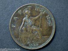 George V, 1926 Bronze Farthing, grade very fine.