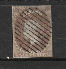 CEYLON 1857  6d   PURPLE BROWN  QV   FU    SG 1