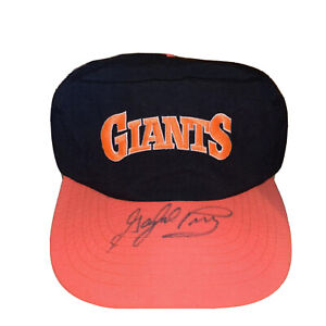 Rare Vintage MLB San Francisco Giants Snapback Hat Autographed Gaylord Perry