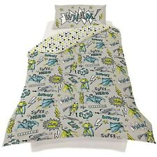 Arthouse Superhero Children's Single Bed Duvet Pillow Set Reversible Cotton New